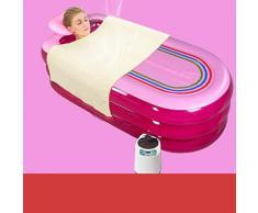 FACAI888 Casa vapor sauna sala sauna baño de vapor recipiente fumigación barril doble uso tina de baño inflable , 168*78*48