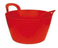 Kerbl Caballo Flexible Tina FlexBag para el maletero 42L - Rojo, Capacidad 12 l