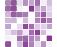 Lila Azulejo De Mosaico Etiquetas Engomadas De La Transferencia 149mm cuadrado (Pack de 8) para baño/Cocina