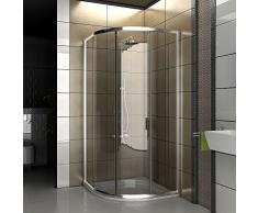 Cabina de ducha de Clara de cristal de seguridad/Real ducha de cristal/90 X 90 X 190 cm/Ducha cabina/Cuadrante/Mampara/Modelo fugo de cuarto circular (/Oferta