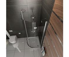 Cuarto circular (Cristal ESG Diseño Ducha de cristal (cabina de ducha con cristal los arañazos Mampara de 90 x 90 x 200 redondo ducha