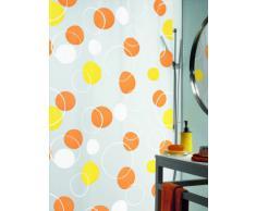 Spirella 180 x 200, Naranja colección Bubble, Cortina de Ducha Textil, 100% Polyester, PEVA