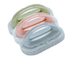 yyuezhi 3 Baño Cepillo Bañera Limpieza Esponja Cepillo Azulejo Cepillo Cocina Cepillo Hogar Cocina Baño Bañera Azulejo Piso Suelo Tareas Domésticas Suministros de Limpieza de Azulejos de Cocina