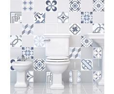 Ambience-Live Azulejos adhesivos para la pared, diseño que imita cemento, 20 x 20 cm, 24 unidades
