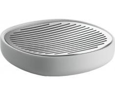 Alessi - Birillo PL04 W - Jabonera de Diseño en PMMA y Acero Inoxidable 18/10, Blanco