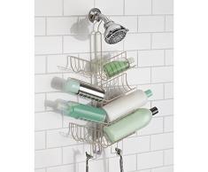 InterDesign Verona - Organizador del cubículo de ducha, organiza champú, acondicionador, jabón, satinado