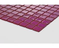 Cristal mosaico de azulejos esterilla de yoga Lila con brillantina. Revestimiento para paredes (MT0069 GTDE) es 30 cm x 30 cm