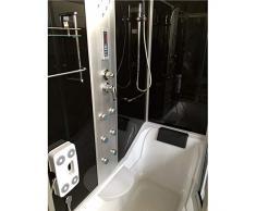 Bañera de esquina 170 x 90 cm h 220cm Ducha Cabina hidromasaje KELLY