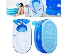 LaDicha 6.2 X 27.6 X 27.6 Pulgadas De Viaje Inflable No Tóxico Bañera Fácil Plegable De Pvc De Baño Para Adultos Bañera