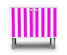 Lavabo mueble de baño armario mueble lavabo mueble de baño con diseño: de rayas rosa