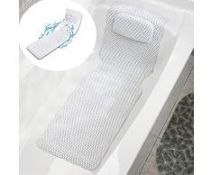 Alfombra de bañera antideslizante, Alfombra de baño y ducha de masaje PVC Antibacterial de cuerpo completo Bañera de baño Colchoneta de colchón Almohadilla de bañera acolchada suave con transpirable