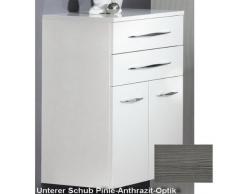 Doble MIDI armario Sceno color (cajón inferior): pino Antracita