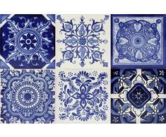 Cerames azulejos decorativos de colores de la pared Tono | azulejos cocina ceramica, para cuarto de baño y cocina, 10cm*10cm, 30 piezas por paquete