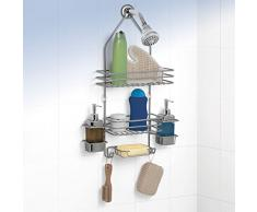 Rayen 2073 - Accesorio para ducha con 2 estantes, color gris metalizado