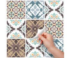 25 azulejos 20x20 cm - PS00038 Pegatinas de PVC para los azulejos para baño y cocina Stickers design - Collage 70 años