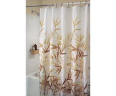 InterDesign Anzu Cortina de ducha | Cortina de baño lavable a máquina de 183 x 183 cm | Cortinas modernas con estampado floral para bañera o plato de ducha | Poliéster marrón