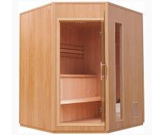 Sauna/esquina para sauna con Harvia esquina – Horno. NUEVO. (cabina de infrarrojos)/5 personas