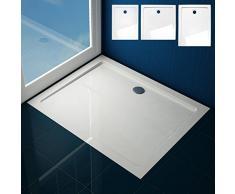 Aquamarin - Plato de ducha de formas claras en color blanco - tamaño M (aprox. 90/4/70 cm)