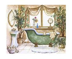 Kentop 5D Diamond Painting - Cuadro para baño (manualidades, mosaico)