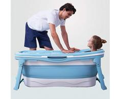 Bañera, hogar bañera plegable, sentarse en la tina de baño de tamaño completo, bañera de adultos, tina de baño de un metro de bañera plegable de tres (Color : A)