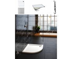 Galdem ducha bañera Ébano suelo CC rectángulo cuadrado Cuadrante rectangular plano bañera ducha Taza de acrílico de alta calidad para mampara de ducha cabina, blanco