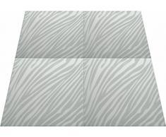 Poliestireno de pared decorativos paneles de techo azulejos Zebra G, 500 x 500 mm