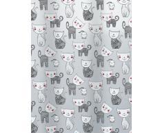 Spirella 10.15237 Mizzy - Cortina de ducha (180 x 200 cm), color gris con diseño de gatos