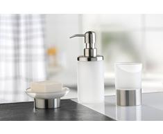 Axentia Portacepillos Neapel, accesorios de baño, WC de accesorios de acero inoxidable y cristal de alta calidad, cepillo de dientes plana como Moderno Baño Accesorio, vaso para cocina y hogar, portalápices para oficina