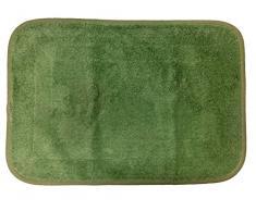 Atenas Home Textile Lisa - Alfombra de baño antideslizante de algodón y rizo americano, 60 x 90 cm, color verde agua