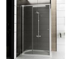 Cabina de ducha de vidrio/diseño de la esquina/ducha/cabina de ducha/madera modelo Fugo/120 x 80 x 190 cm/Top oferta especial