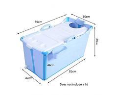 Xingxing Piscina Plegable portátil for niños Piscina pequeña bañera de Esquina Independiente Cubo de baño for Adultos/Ancianos SPA Aumento, Largo Tiempo de Aislamiento con Cubierta (Color : Blue)