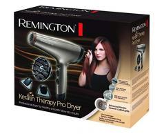 Remington Keratin Therapy - Secador de pelo iónico, motor 2200 W AC Profesional, difusor, 2 concentradores