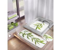 Kleine Wolke 5380600008 - Alfombrilla de baño (32 x 22 cm), diseño de bambú, color verde