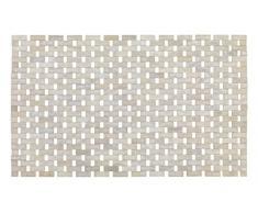Wenko 22106100 alfombra de baño de bambú blanco 54,5 x 12 x 7 cm