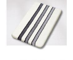 Meusch 2266926104 - Alfombra de baño, color blanco y negro