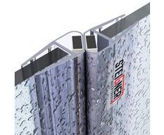 STEIGNER Juego de Juntas Magnéticas para la Puerta de Cabina de Ducha UKM04, 6/7/8 mm - 180 grados, 2 piezas, 150 cm
