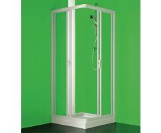 Box cabina ducha, tamaño cm.80 – 75 x 80 – 75, ad ángulo a quattro puertas