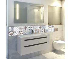 Pegatina baldosa hidráulica para pared – Azulejos -15 x 15 cm – 24 piezas