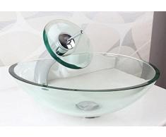 xie moderno templado cristal lavabo simple Corazones lavabo sobre encimera, vidrio, single basin