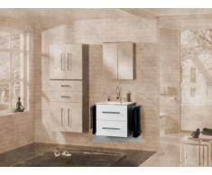 Lavabo mueble para fregadero de Lugano/Como (frente) Color: blanco, color (estructura): pino Antracita