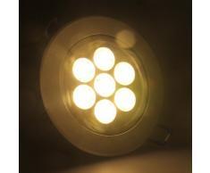 6 x Auralum 3 W 5 W 7 W foco LED empotrable de techo de luz de la lámpara de juego, Warmweiss 7W, B15d 7.00 watts 230.00 volts