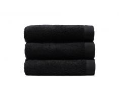 Home Basic - Juego de 3 toallas para tocador, 33 x 50 cm, lavabo, 50 x 100 cm y baño, 100 x 150 cm, color negro