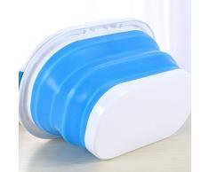 Cubetas Plegables De Cubos De Silicona Abatible Cubo Plegables Multi Propósito Tina De Plato Plegable, Gran 10 litros Capacidad Lavabo De Lavado con Asa Portátil, 2 Pack