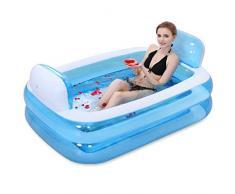 wei Bañera Plegable bañera Aumentar el Engrosamiento de la Burbuja de baño para Adultos bañera de plástico bañera Inflable