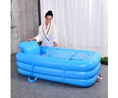 Neilyn Gran bañera para adultos Práctico portátil para niños Bañera inflable para adultos Salud Baño para sauna Doble uso plegable Bañera para niños Inflable para niños Piscina verde Protección del medio ambiente Pvc