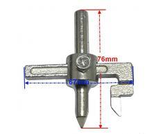 Aerzetix - Broca extensible para perforar cerámica, azulejos, etc. (corte 3-10 cm)