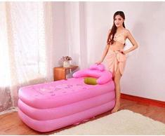 Bañera, piscinas práctica de niño o adulto inflable portátil Sauna La QLM- plegable y bañeras de inmersión, Rosa -, bañera