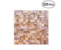 SUPVOX Azulejo de ladrillo Cuadrado patrón de Mosaico de Concha de cerámica para la Cocina baño Paredes spas Piscinas Sala de Estar 225 unids