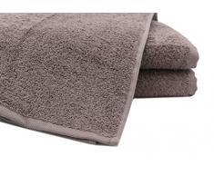"""ZOLLNER® Juego de 3 toallas de ducha / toallas de baño / toallas de cuerpo, calidad premium 520 g/m², 70x140 cm, algodón 100%, color topo, en otros colores, del especialista textil, serie """"Star-Elba"""""""