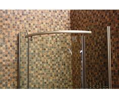 Cabina de ducha, mampara, cuarto círculo cristal de cabina se 014 80 x 80 cm